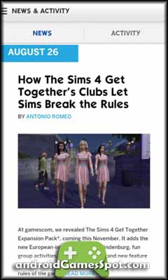 The Sims 4 Gallery free games for android apk download